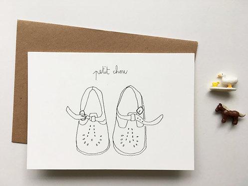 """Carte double avec enveloppe """"Petit chou"""""""
