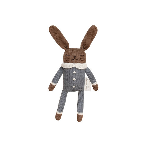 Main Sauvage Doudou lapin pyjama bleu