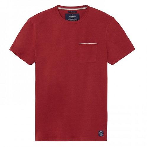 La Gentle Factory tee-shirt à poche rouge