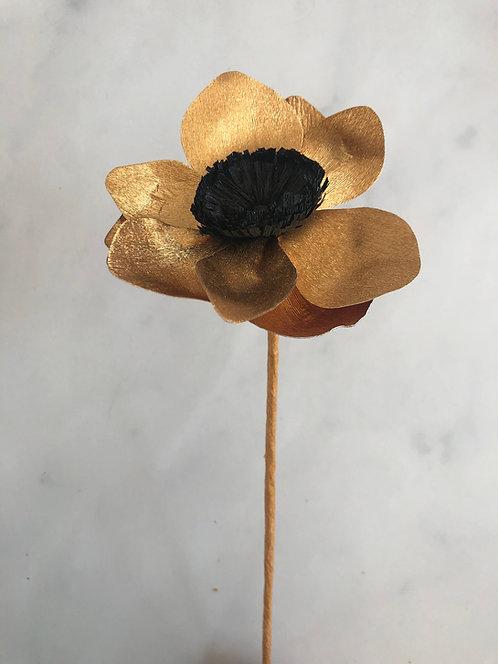 Fleurs en papier faites à la main - Anémone dorée