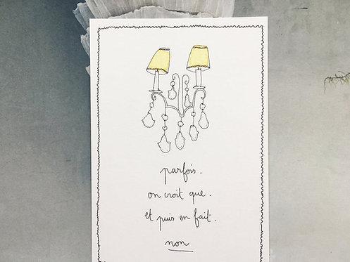 "Carte simple ""Parfois"""