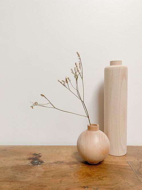 Petit Vase rond en bois an°so