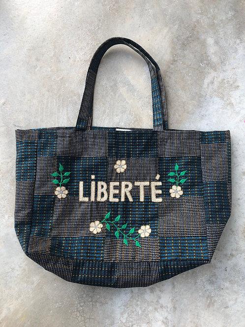 """Sac cabas brodé main CSAO """"Liberté"""""""