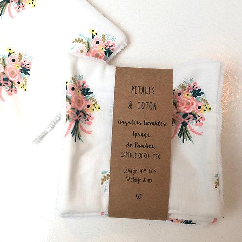 Lingettes lavables tissu Rifle Paper Bouquet