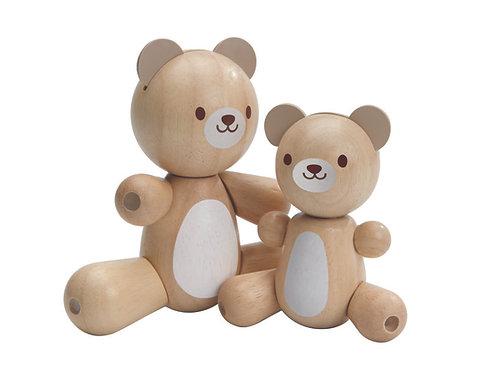 Maman et Bébé Ours articulés - Plan Toys