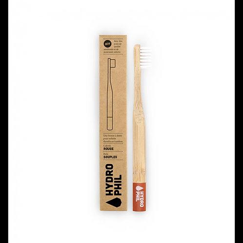 Brosse à dents en bambou extra-souple pour enfant
