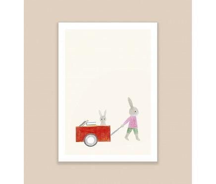 Affiche A4 Lapins Season Paper x Maison Eliza