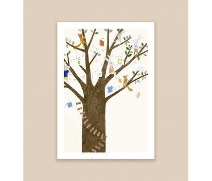 Affiche A4 Dans l'arbre Season Paper x Maison Eliza