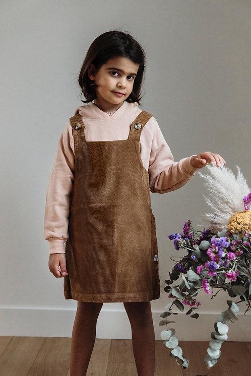 Robe en velours côtelé Poudre Organic