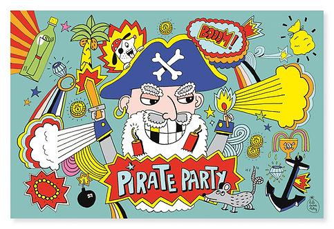Cartes invitation Pirates