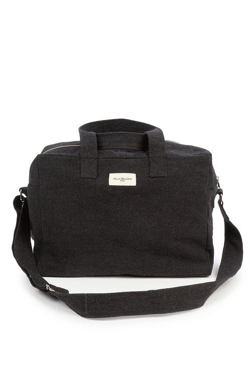 Rive Droite City Bag Sauval en coton recyclé noir