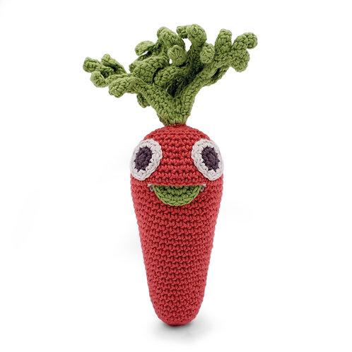 Carotte hochet en crochet Bio