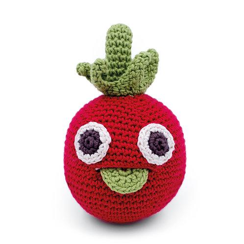 Tomate hochet en crochet Bio