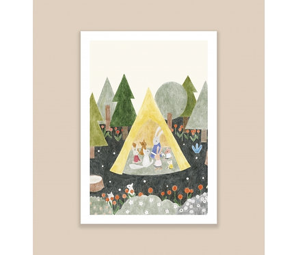 Affiche A4 Le tipi Season Paper x Maison Eliza