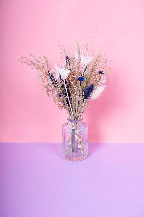 Fiole de fleurs séchées - Blue Jeans