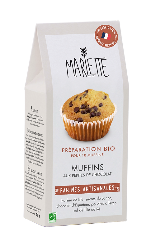 Marlette Préparation Bio Muffins aux pépites de chocolat