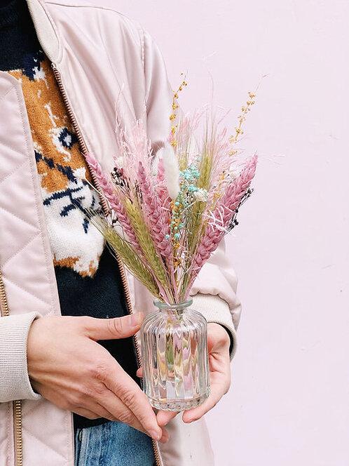 Fiole de fleurs séchées - Clair de lune