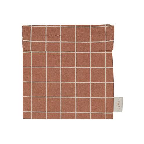 Sandwich bag en coton BIO terracotta - Haps Nordic
