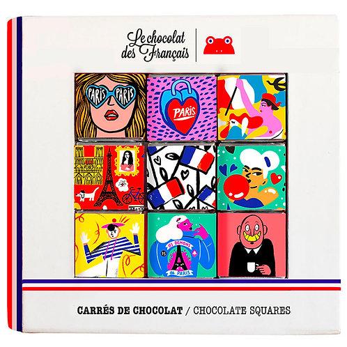 Coffret 9 carrés chocolat Bio Le Chocolat des Français