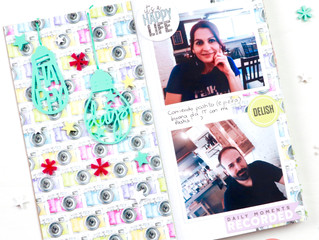 Happy Days traveler's notebook spread with Virginia