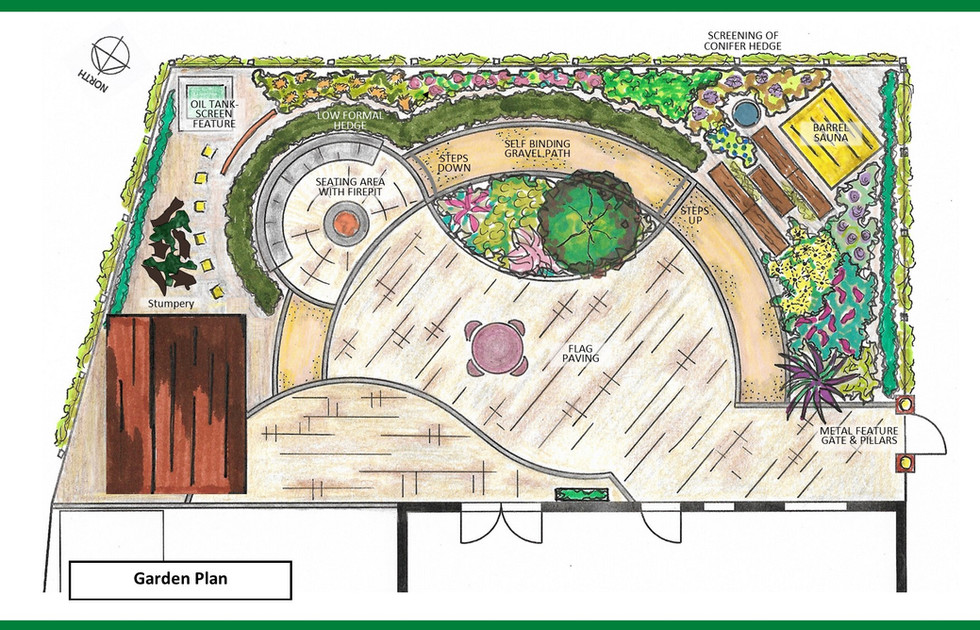 Traditional Country Living Style Garden Design Waringstown