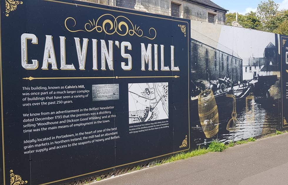 Calvins Mill Portadown Hoarding Content