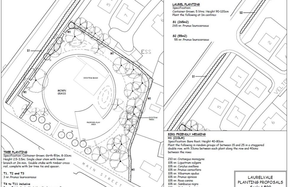 Laurelvale Park Planting Plan