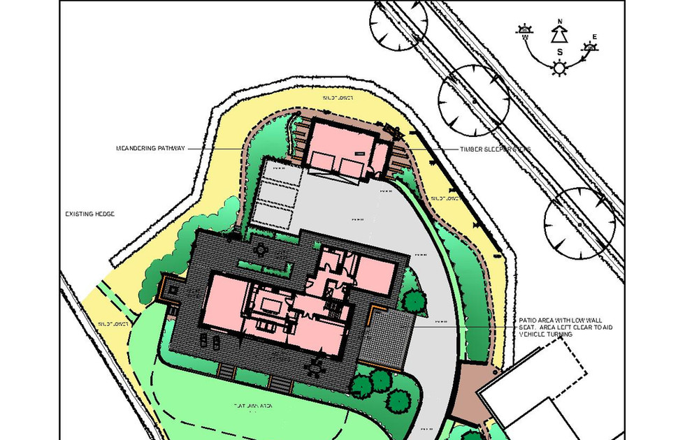Garden Design for a new build Sheepsbridge