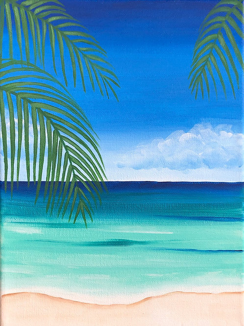 Art to Go Blue Beach Painting