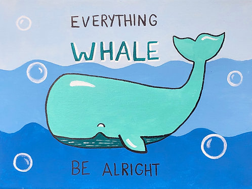 Art to Go Whale painting kit