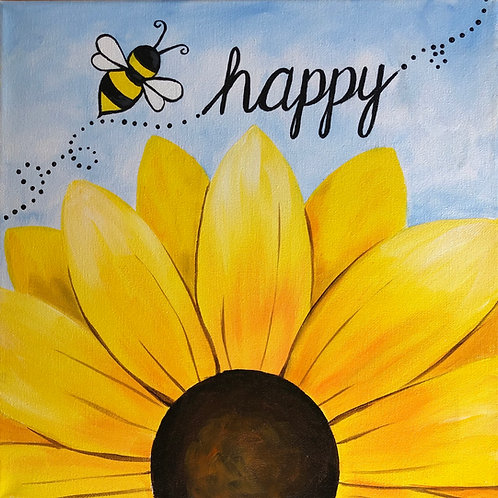 Art to Go Bee Happy Painting