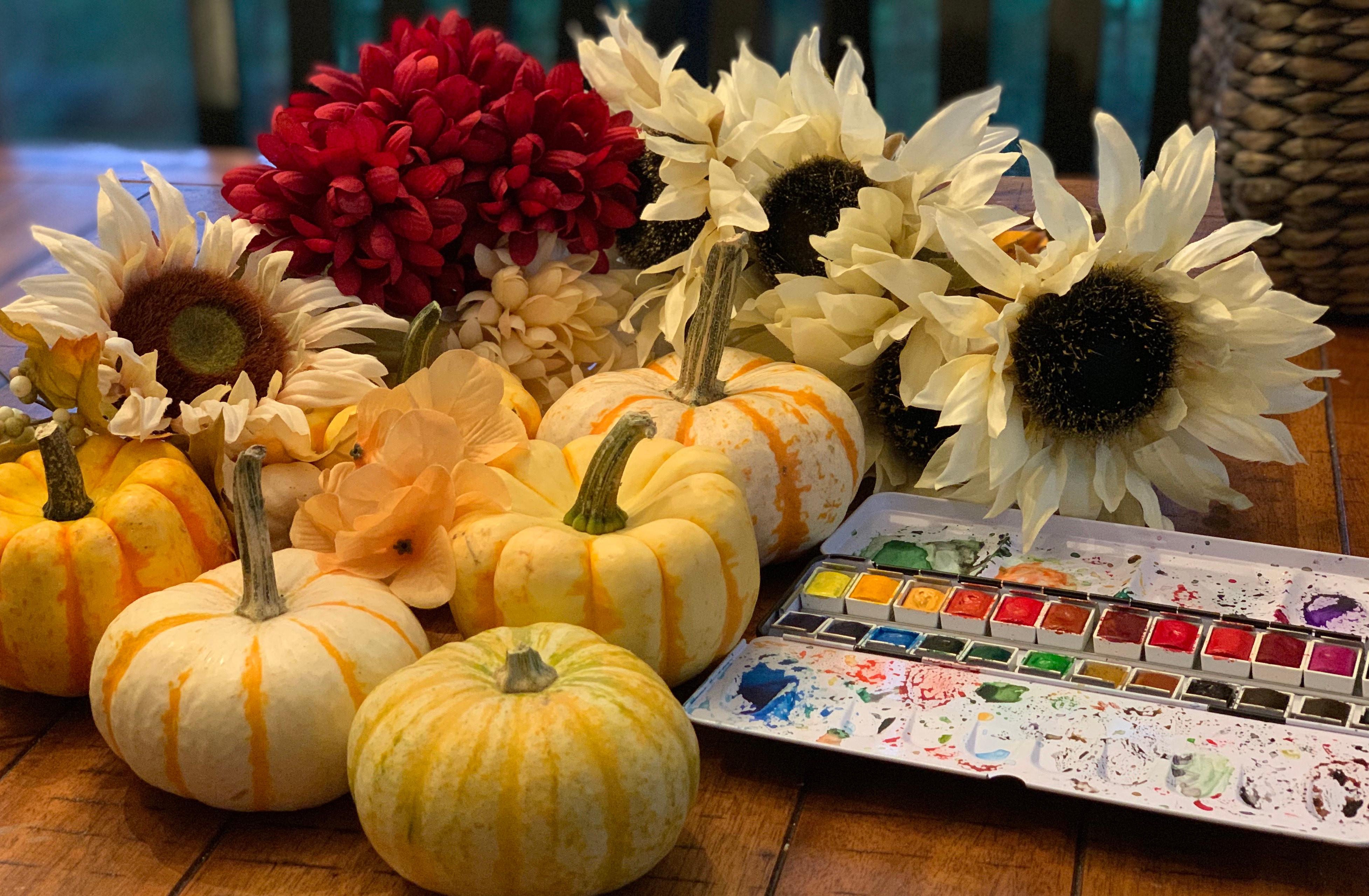 Pumpkin Watercolor Study