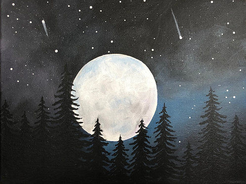 Art to Go Nocturnal Acrylic Painting