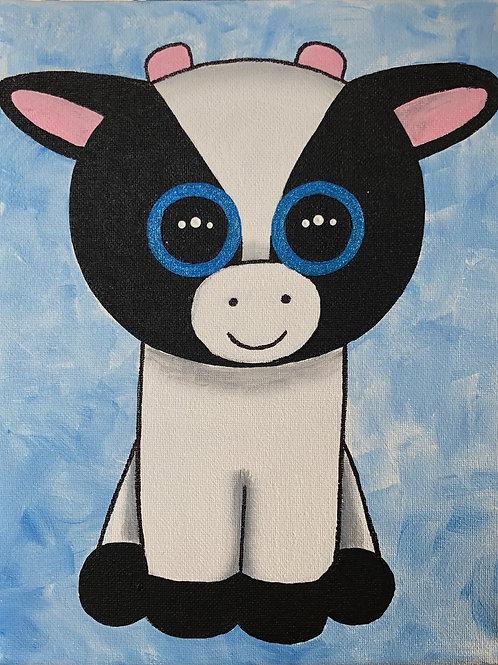 Art to Go Cow Beanie Boo