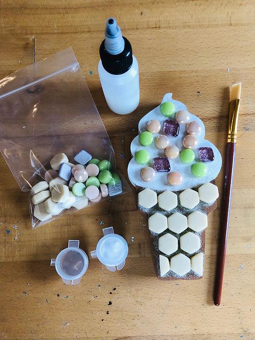 Mosaic Ice Cream Cone