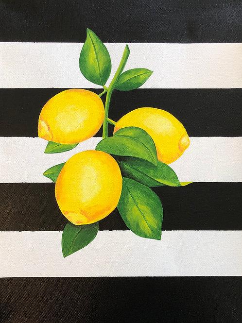 Art to Go Lemons and Stripes