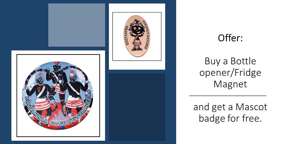 Fridge Magnet and Free Mascot Badge
