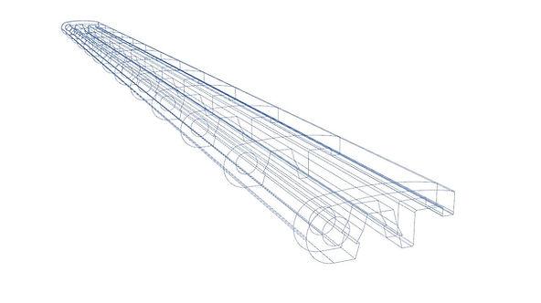 Blueprint drawing of Lanai deck nosing