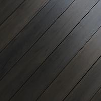 Image of black sand deck planks close up