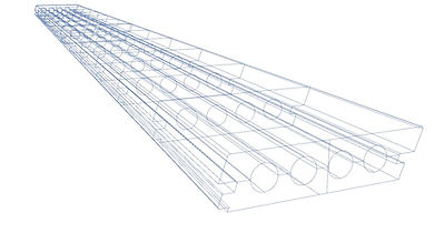 Blueprint drawing of Lanai PVC Deck plank showing inner core