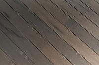 Close up of sunset palm lanai deck planks