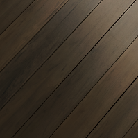 Close up of Dark Kona PVC lanai deck planks