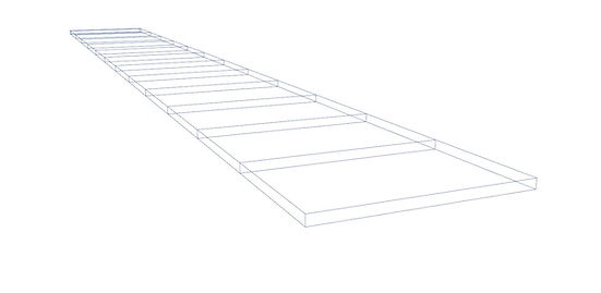 Blueprint drawing of deck riser from lanai