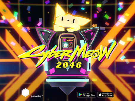 New mind-twisted mobile game CyberMeow 2048, solve puzzles to score high!