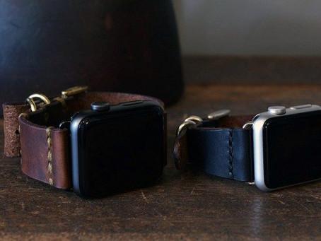 Apple watch leather belt.