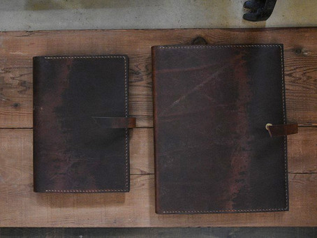 Leather notebook & binder cover