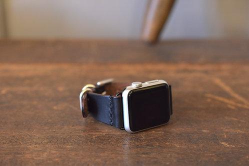 Apple watch leather belt 40mm&38mm  - Black & Silver -