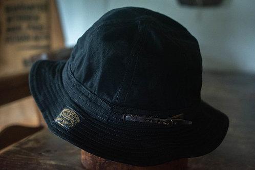 Six panel hat -black-
