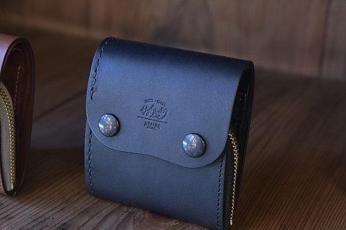 Roll wallet half  - Mat black -