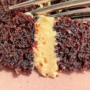 flourless chocolate cake with caramel